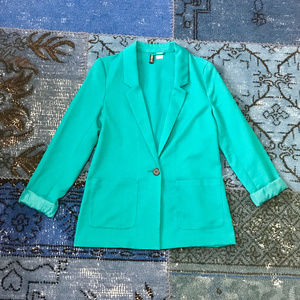 Divided by H&M Teal Slouchy Blazer
